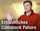 Borut Pahor beim ersten Wahlgang