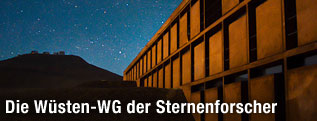 Nachtaufnahme des ESO-Hotels