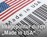 """US-Flagge und die Aufschrift """"Made in USA"""""""