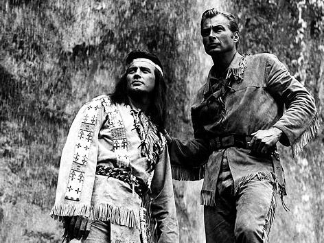 """Winnetou und Old Shatterhand im Film """"Der Schatz im Silbersee"""""""