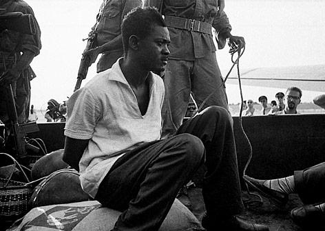 Der verhaftete Ex-Präsident Lumumba