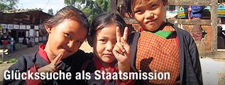 Lächelnde Kinder aus Bhutan