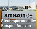Firmenschild von Amazon Deutschland
