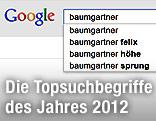 """Suchefeld von Google mit dem Suchbegriff """"Baumgartner"""""""