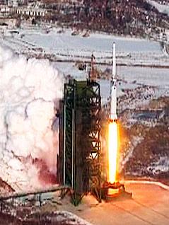 Abschuss der nordkoreanischen Rakete Unha-3
