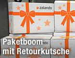 Päckchen des Online-Versandhändlers Zalando
