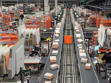 Logistikzentrum des Versandhändlers Zalando in Erfurt