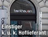 Schaufenster der Firma Backhausen