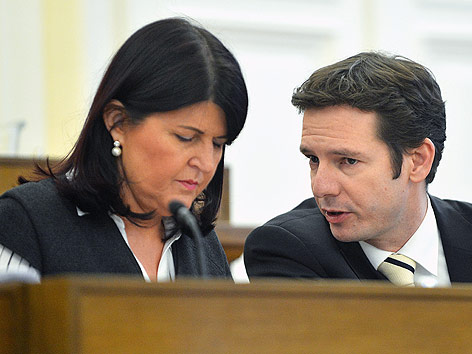 Salzburger Landeshauptfrau Gabriele Burgstaller und Stellvertreter David Brenner