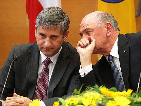 Außenminister Michael Spindelegger und Niederösterreichs Landeshauptmann Erwin Pröll
