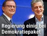 ÖVP-Klubobmann Karlheinz Kopf und SPÖ-Klubobmann Josef Cap