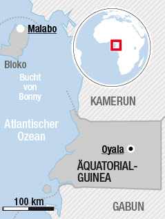 Karte von Äquatorialguinea