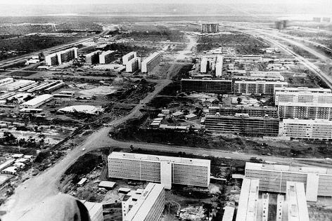 Luftaufnahme von Brasilia, 1960