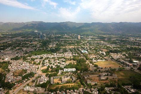 Luftaufnahme von Islamabad, 2011