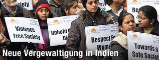 Protestierende in Neu Delhi