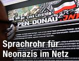 """Bildschirm mit Website der """"Alpen-Donau.info"""""""