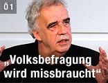 Der ehemalige gründe Politiker Johannes Voggenhuber