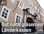 Eine Außenansicht der Salzburger Landesregierung, dem Chiemseehof