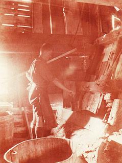Historisches Bild der Firma Lodenwalker