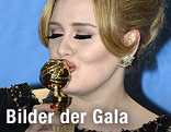 Sängerin Adele mit dem Golden Globe