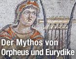 Ein Mosaik das Orpheus mit seiner Lyra