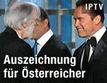 Michael Haneke und Arnold Schwarzenegger