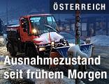 Schneeräumfahrzeug in Wien