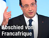 Frankreichs Staatspräsident Francois Hollande