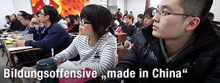 Chinesische Studenten in einem Hörsaal