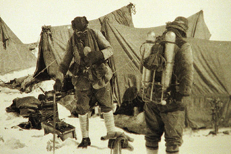George Mallory auf dem Mount Everest