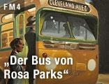 Illustration von Maurizio A.C. Quarello zeigt Frau, die in einen Bus einsteigt