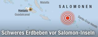 Karte der Salomonen-Inseln