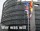 Länderflaggen vor dem EU-Parlament