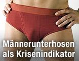 Mann in roter Unterhose