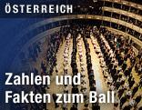 Debütantinnen und Debütanten bei der Generalprobe für den Opernball
