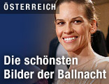 Schauspielerin Hilary Swank am Wiener Opernball