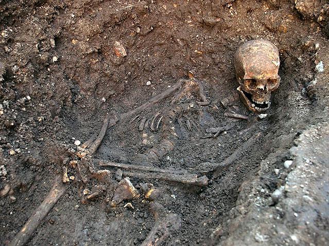 Die Überreste des Königs Richard III.