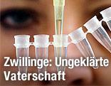 Laborantin mit einem DNA-Test