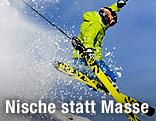 Freerider mit Skiern