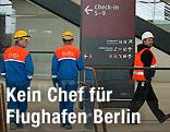 Arbeiter auf dem neuen Flughafen Berlin-Brandenburg