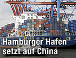 Container am Hamburger Hafen