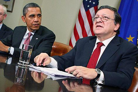 US-Präsident Barack Obama und EU-Kommisionspräsident Jose Manuel Barroso