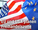 EU- und US-Flaggen