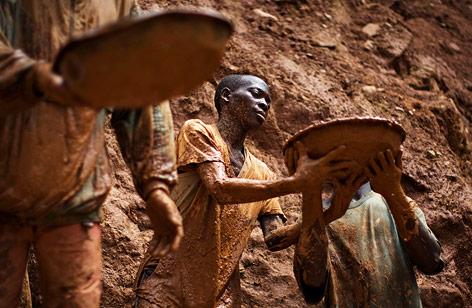 Zinnabbau im Kongo