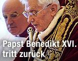 Papst Benedikt XVI. bei seiner Rücktrittsrede