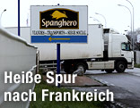 Schild der französischen Fleischproduktionsfirma Spanghero