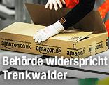 Arbeiter und Amazon-Paket