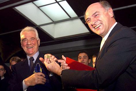 Erwin Pröll und Frank Stronach im Jahr 2000