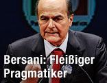 Pierluigi Bersani hält eine Rede