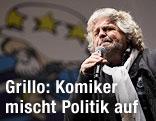 Italienischer Komiker und Politiker Beppe Grillo